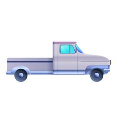 Side retro pickup icon cartoon style vector
