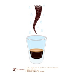 Single Ristretto Coffee in A Shot Glass vector image