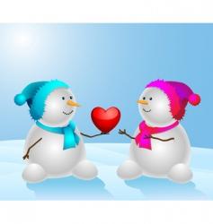 snowman final vector image vector image