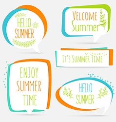 Summer banner set logo sticker speech bubble with vector image