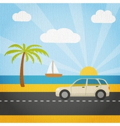 Summer vacation tourism vector image
