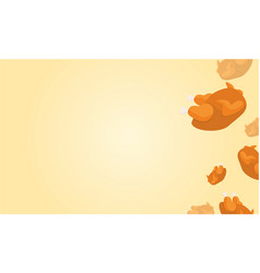 Thanksgiving celebration background style vector