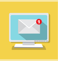 The letter came by email vector