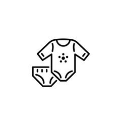 thin line baby icons kids clothes garment vector image