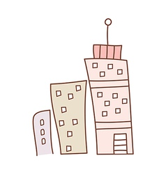 Three buildings vector