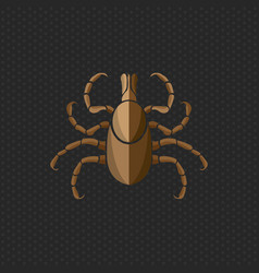 tick borne diseases icon logo design vector image