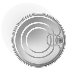 Tin can with a ring realistic look place for vector