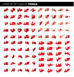 tonga flag vector image