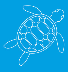 tortoise icon outline style vector image