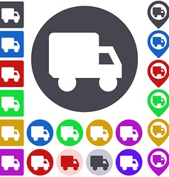 Truck Icon Set vector