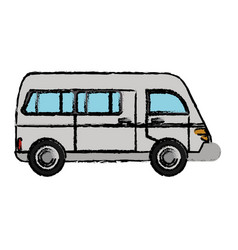 Van vehicle transport classic vector