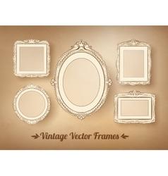 Vintage baroque frames set vector