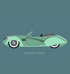 vintage convertible car vector image
