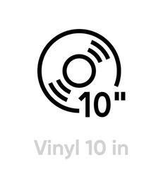 vinyl record 10 inch icon vector image
