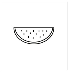 water melon simple icon on white background vector image