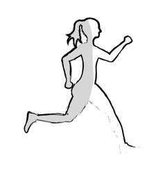 Woman running fitness vector