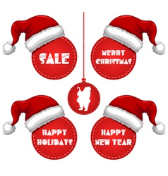 year and holidays sale tag with cap vector image