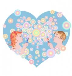 blowing bubbles vector image vector image