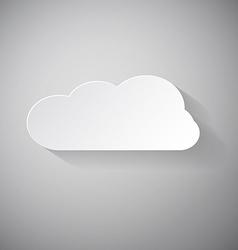 Cloud - Paper Cut vector image vector image