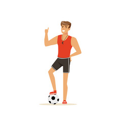professional fitness coach or instructor with vector image vector image