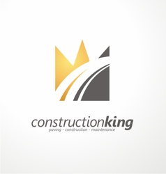 Road construction creative symbol layout vector image vector image