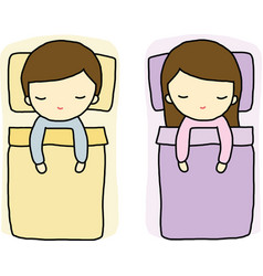 Sleeping Boy and Girl vector image vector image