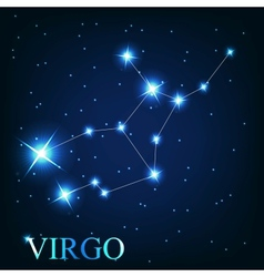 The virgo zodiac sign of the beautiful bright vector