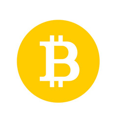 bitcoin sign logo vector image