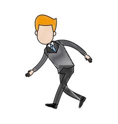 businessman character sad problem crisis vector image