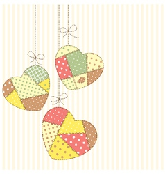 Romantic patchwork vector image
