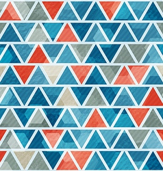 abstract blue triangle seamless pattern vector image