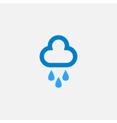 Cloud with rain drops icon vector image