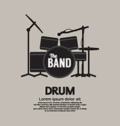 Drum Set Music Instrument vector image vector image