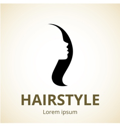logo for beauty salons and barber shops vector image