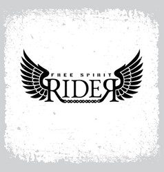rider free spirit vector image vector image