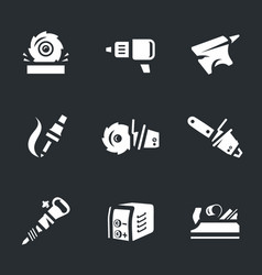 set of work tool icons vector image vector image
