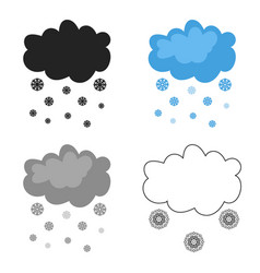 snowfall icon in cartoon style isolated on white vector image