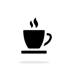 Tea cup simple icon on white background vector image