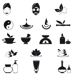 Wellness icons vector image vector image