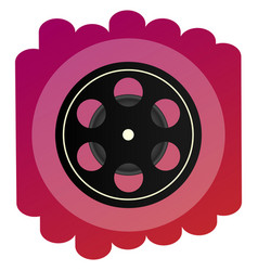 a bright icon celluloid or cine-film sign of vector image