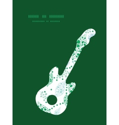 abstract blue and green leaves guitar music vector image