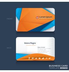 Business cards design template vector