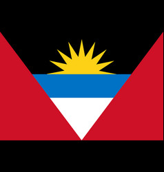 flag of antigua and barbuda official colors and vector image vector image