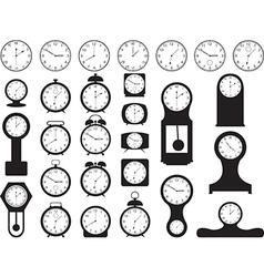 House clocks vector image vector image