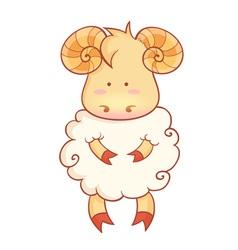 Sheep character of chinese new year symbol vector image