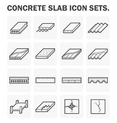 Slab icon vector image vector image