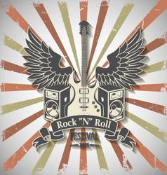 Symbol of rock festival vector image