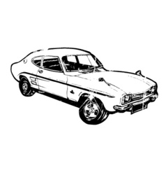 vintage sports car vector image vector image