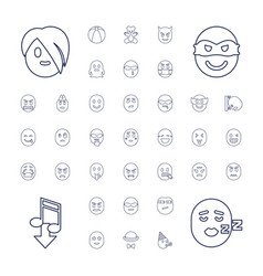 37 funny icons vector