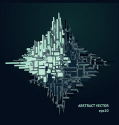 3d abstract concept with volume effect vector image